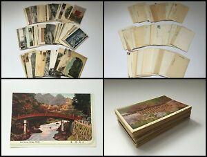 Japanese-1960s-Post-Card-100pc-Vtg-Buddhist-Temple-Shrine-Castle-Picture-T038