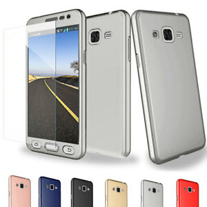 new arrival cae88 b2863 Details about For Samsung Galaxy J2 Prime 360 Full Hard Case + Tempered  Glass Screen Protector