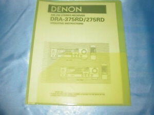 Denon dra-375rd service manual.