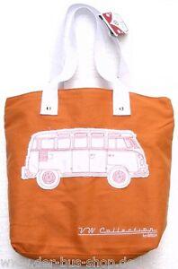 VW-Bus-T1-Tasche-Umhaengetasche-Shopper-Orange-NEU-amp-OVP