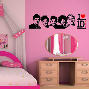 ONE-DIRECTION-wall-art-vinyl-room-sticker-transfer-decal-1D-MUSIC-Group-Band