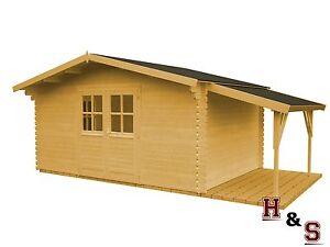 gartenhaus + schleppdach 320x320 cm holz schuppen gerätehaus 34 mm, Moderne