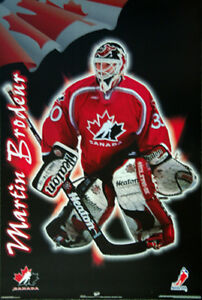 Martin Brodeur Rare 1998 Team Canada Hockey Nagano Olympics Goalie