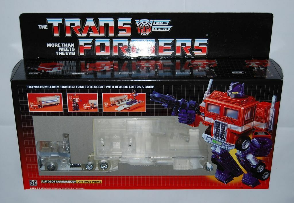 New arrival Transformers G1 clear Optimus prime transparent - brand