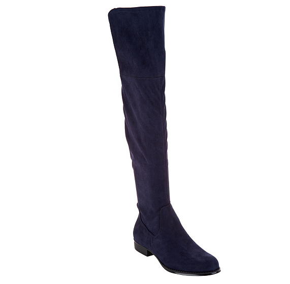 Isaac Mizrahi Mizrahi Mizrahi Live  Imitación Gamuza Sobre la Rodilla botas Mujer Azul Marino Twain 6.5  tiempo libre