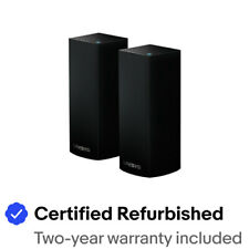 Linksys - Velop AC4400 Tri-Band Mesh Wi-Fi 5 System (2 Pack) - Black WHW0301-RM2
