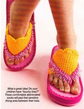 CUTE Girl's Flip Flop Socks/Apparel/ Crochet Pattern INSTRUCTIONS ONLY