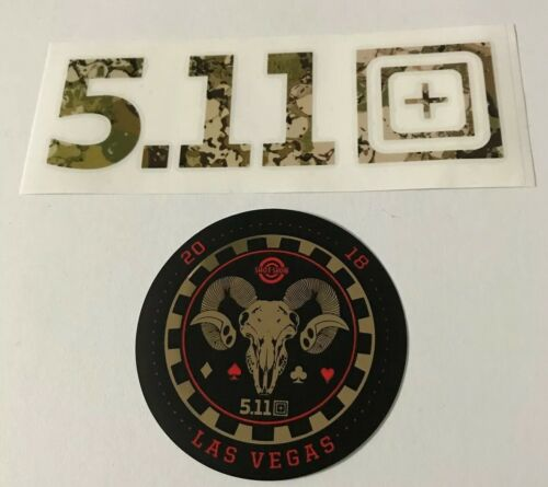 5.11 TACTICAL Shot Show Sticker Lot Of 2 Camo
