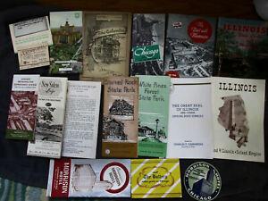 Huge-Paper-Ephemera-Lot-US-Travel-Souvenir-Places-Almanac-Illinois-Colorado-Wis