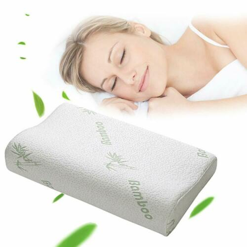 Contour Bamboo Memory Foam Pillow Orthopaedic Firm Head Neck Back Support