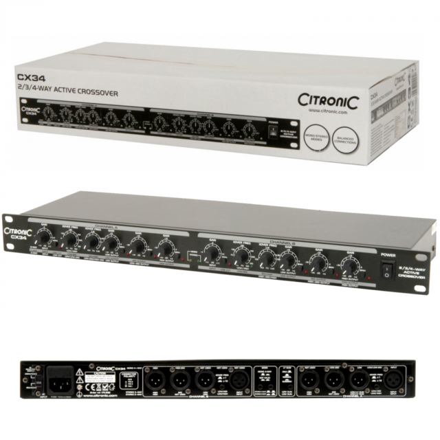 Citronic CX34 2//3//4Way Active Crossover