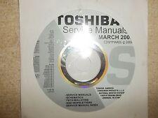 Toshiba Television DVD Service Manual CD CDSMMAR05 *FREE SHIPPING*