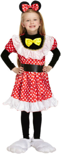 Ragazze Minnie Mouse Stile a Pois Costume Libro Giorno Costume Età 4-7 anni