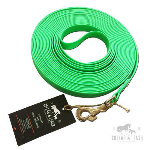 * Nuovo * BioThane Issa concentrandola Guinzaglio schweissleine 16mm Verde Neon 1  20 M