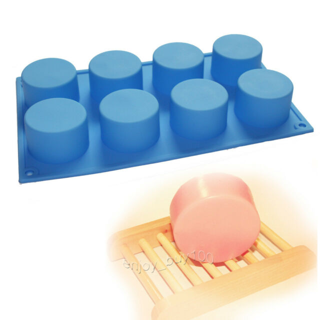Round Cylinder Circle Soap Silicone Mold Chocolate Muffin Cupcake Bakeware Pan