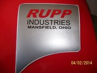 Vintage Rupp Industries , Ohio Motor Replacement Sticker (reproduction)