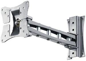 NEW-10-23-FLAT-SCREEN-TILT-SWIVEL-MOUNT-SILVER-LCD210
