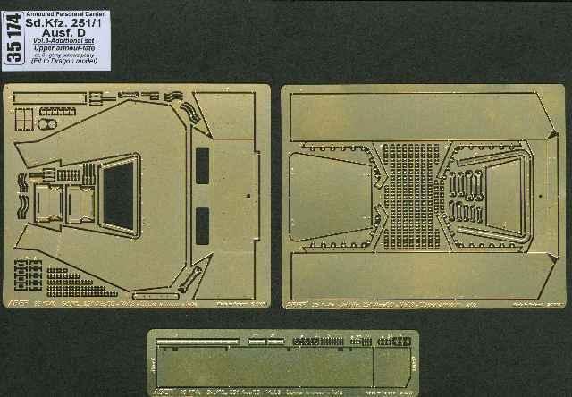 Aber 1 1 Aber   35 tedesco sd.kfz.251 1 ausf. d vol.8 superiore r  stung piastra in aggiunta fa4e47