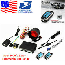 2-Way Car Alarm Security System w// 2 Pcs LCD Super Long Distance Controlers Kit