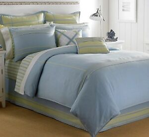 Nautica Seagrove FULL Sheet Set of 4 turquoise blue olive green white plaid new