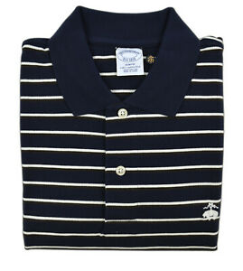 Brooks-Brothers-Navy-Blue-Striped-Slim-Fit-Performance-Polo-Shirt-Small-S-3678-2