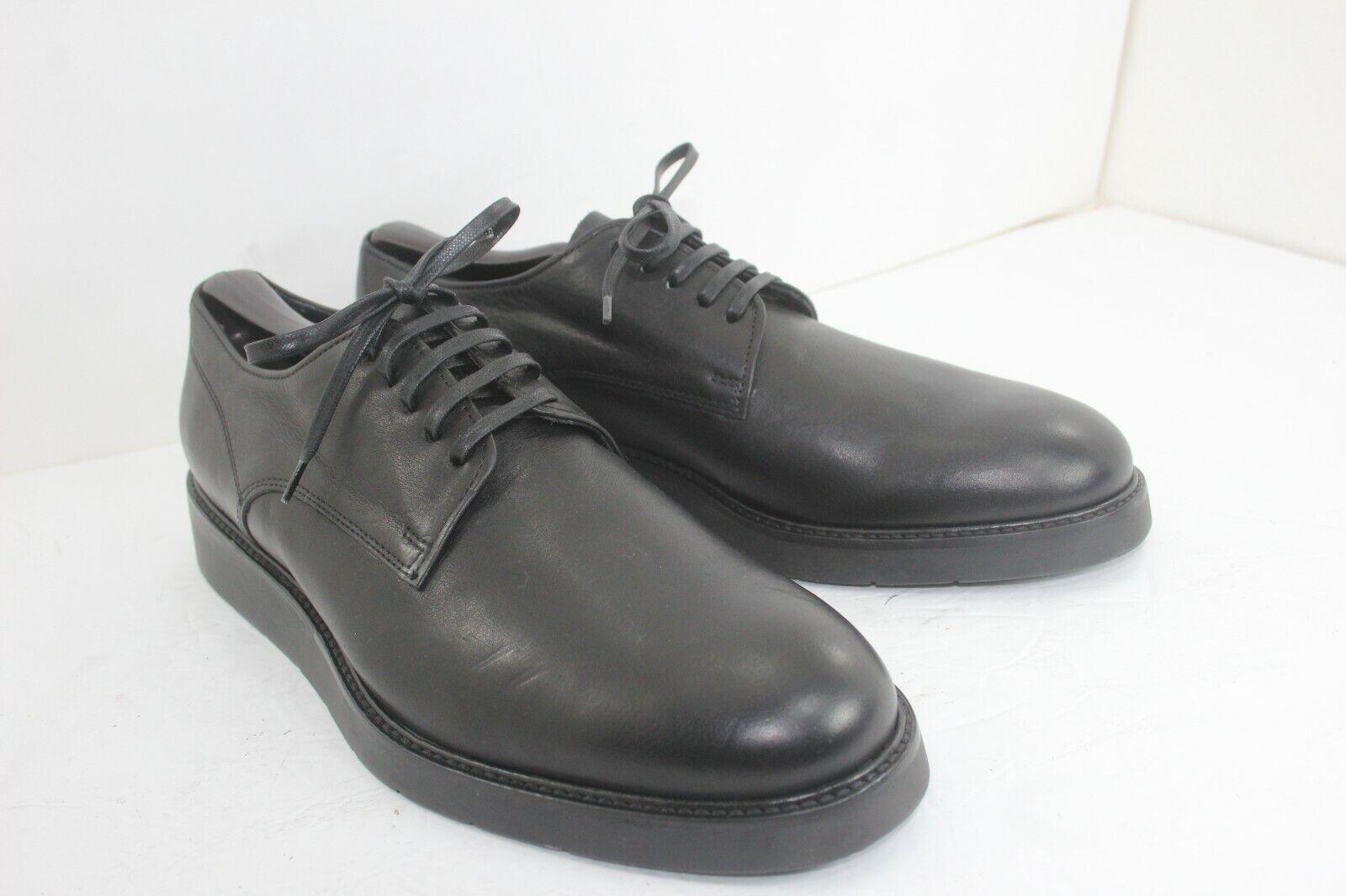 Vince Oxford Nuevo Negro en Cuero Zapatos son negras M