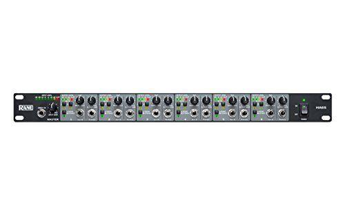 Rane HA6S Headphone Amplifier [1u] - 6 Stereo Amps, Master And Aux Inputs, Xlr