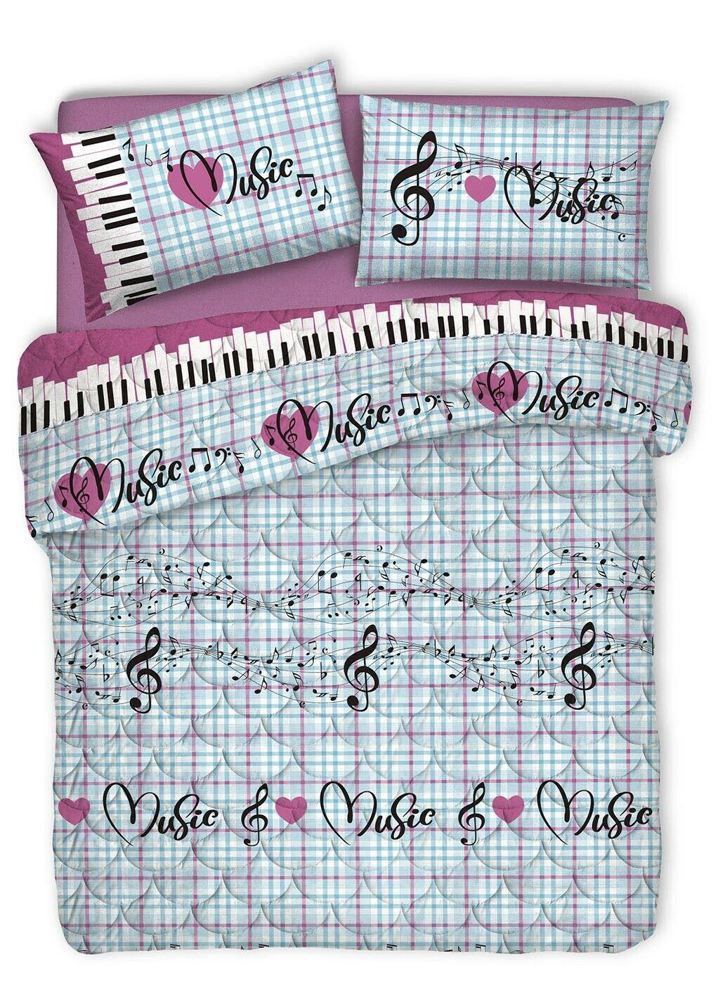 Quilt Spring Notes Music Pink Spring Summer Single marital