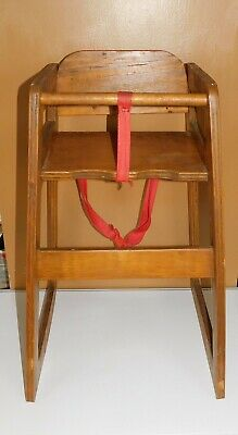 Astounding Wood Wooden Baby Toddler High Chair Booster Seat Restaurant Style Ebay Caraccident5 Cool Chair Designs And Ideas Caraccident5Info