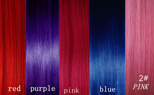 CLIP-IN-REMY-REAL-HUMAN-HAIR-EXTENSIONS-1pc-Single-Clip-PURPLE-BLUE-RED-PINK