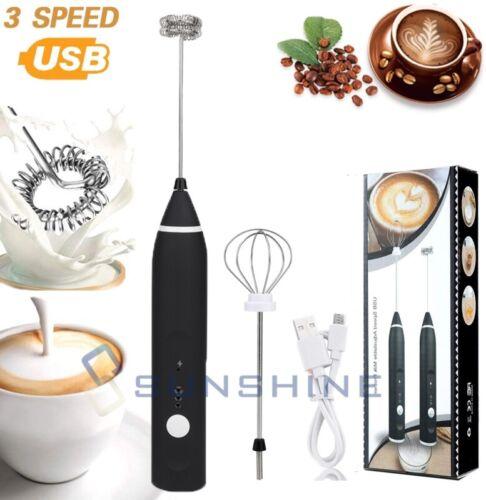 2-IN-1 Milk Frother Handheld Electric Hand Mixer Milk Foamer USB Rechargeable
