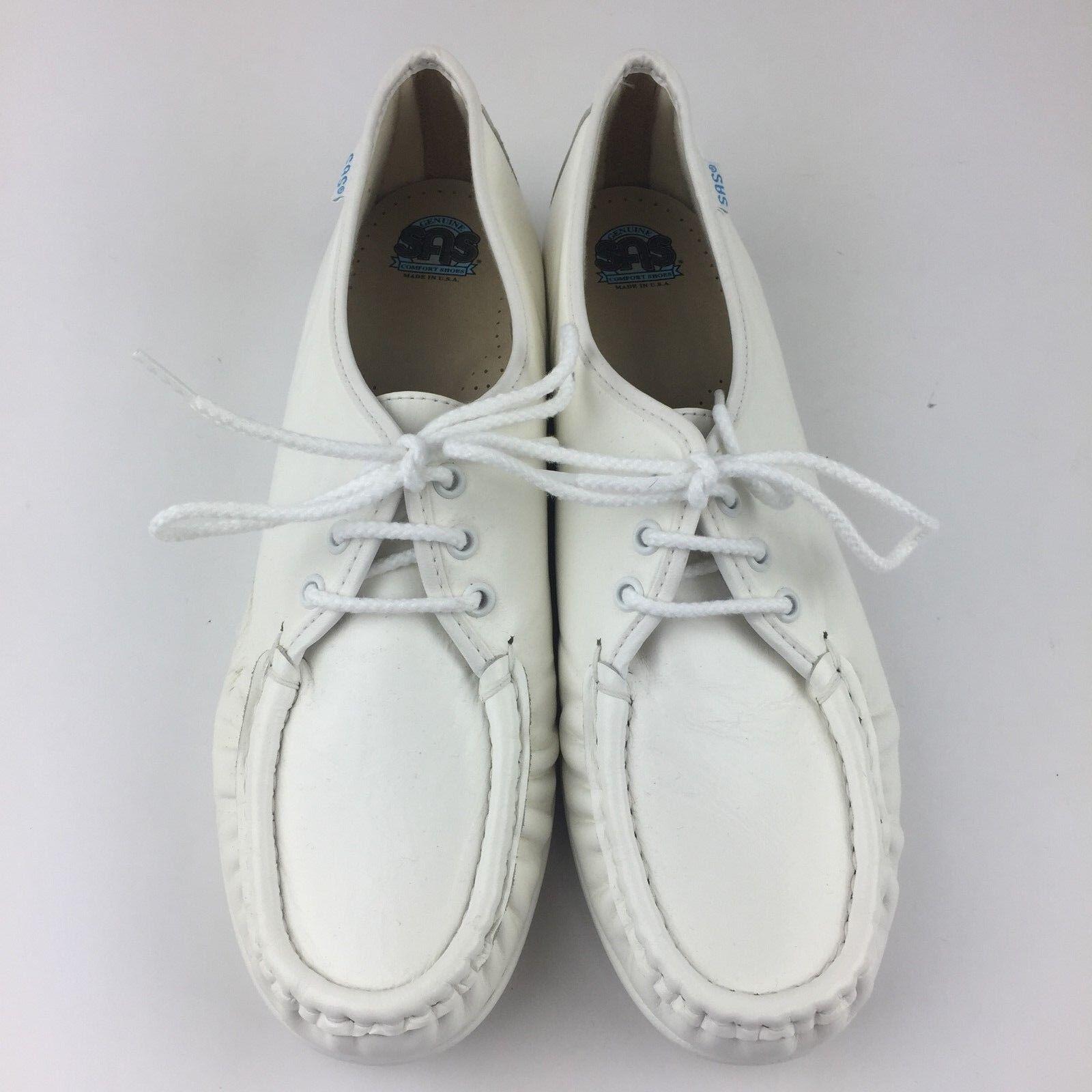 sas siesta femmes blanc 9,5 n du cuir blanc femmes de chaussures oxford dentelle vintage cc340f