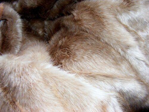 Teddy Plüsch Edelplüsch 20x70cm Flor 30mm beige-grau stichelhaarig  TA