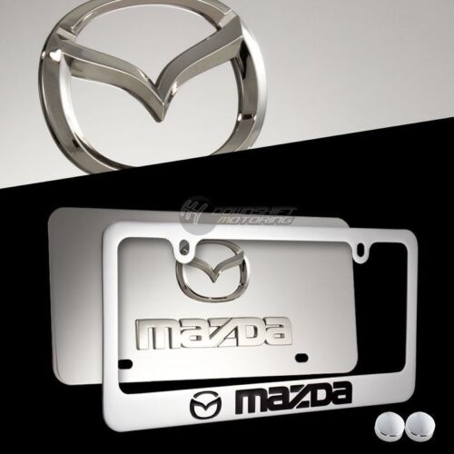MAZDA MAZDA 3 6 Mirror Stainless Steel License Plate Frame 2PCS FRONT /& BACK