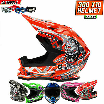 GREEN//GOLD ADULT HELMET DIRT BIKE ATV GO KART FREE FREIGHT,GOGGLES and GLOVES