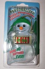 #1 SON Solar Powered Snowman Ornament/Gift Tag NameStar NEW