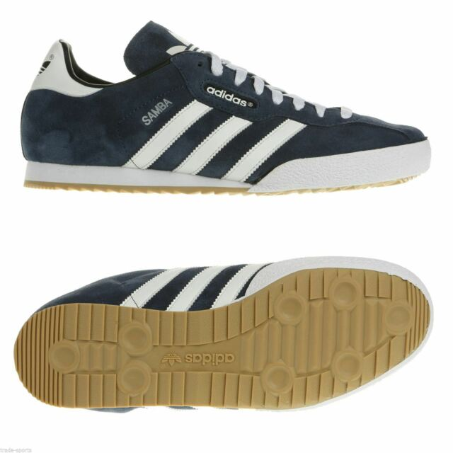 adidas 019332 Samba Super Suede Retro Mens Sneaker Navy White