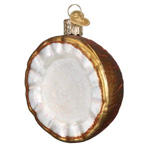 "28119 X Old World Christmas Glass Ornament w// OWC Box /""Coconut/"""