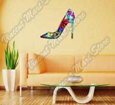 "Women Girl Female High Heel Shoe Wall Sticker Room Interior Decor 20""X25"""