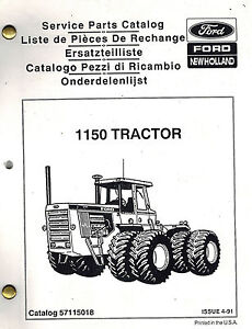 Details about FORD NEW HOLLAND 1150 TRACTOR PARTS MANUAL