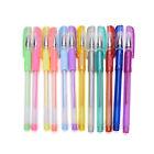 1 Set 12 colors Gel Pen Glitter Pens Asst Scrapbooking Crafter DIY Gift Card JB