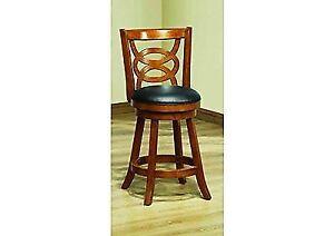 Strange Monr I1252 Monarch Specialties Solid Wood High Swivel Counter Stool 39 Inch O Machost Co Dining Chair Design Ideas Machostcouk
