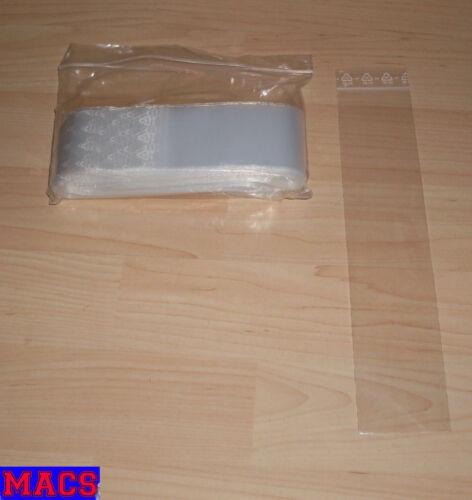 1000 Tütchen Polybeutel 50 x 250 Lang Länglich Druckverschlussbeutel Zip Tüten