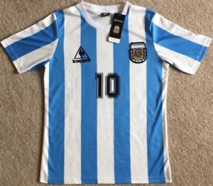 Fußball Trikot Jersey Argentina 1986 #10 Maradona Vintage Retro Shirt+~
