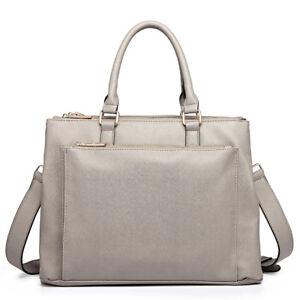 Details about Miss Lulu Ladies PU Leather Briefcase Large Laptop Handbag Bag  Work Shoulder Bag ebad2b451bd1b