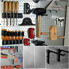 Pegboard Tool Organizer Wall Mount Garage Storage Metal Steel Board 2 Pack  Gift