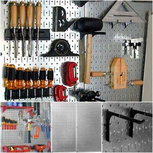 Image Is Loading Pegboard Tool Organizer Wall Mount Garage Storage Metal