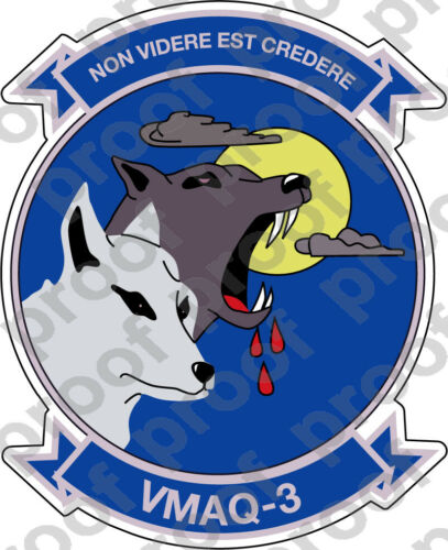 STICKER USMC VMAQ 3 MOON DOGS   ooo   USMC Lisc No 20187