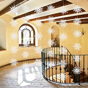 36PCS-11cm-blanco-copos-de-nieve-decoraciones-Navidad-arbol-del-partido-adornos