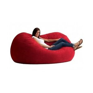 Ordinaire Image Is Loading Giant Bean Bag Red Huge Oversized Chair Comfort